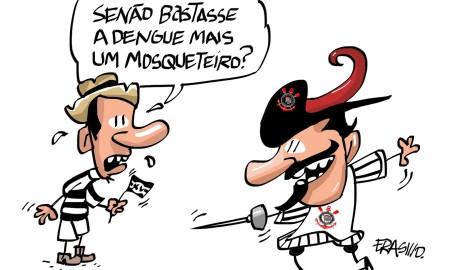 Corinthians x XV de Piracicaba (Charge do Erasmo)