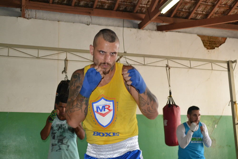 Gustavo Zandoval, atleta da equipe de boxe Luzitano Piracicaba
