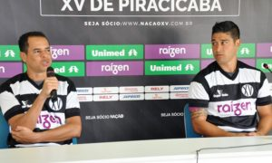 Jobinho e Everton, atacantes do XV de Piracicaba
