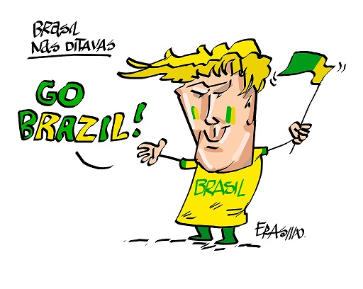 Charge do Erasmo - Brasil 2x0 Sérvia