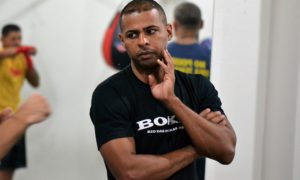 Marcos Ribeiro, treinador da equipe de boxe do Centro Esportivo MR
