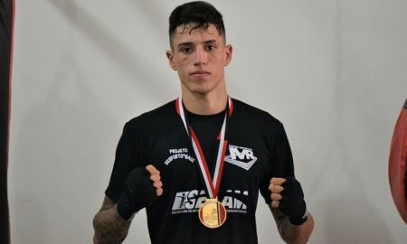 Marcos Alves, atleta de boxe do Centro Esportivo MR