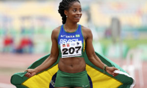 LIMA, PERU - May 26: Vitoria Rosa of Brazil competed 200m during the South American Championship at the South American Athletics Championships on May 24, 2019 in Lima, Peru (Photo Wagner Carmo / CBAt)